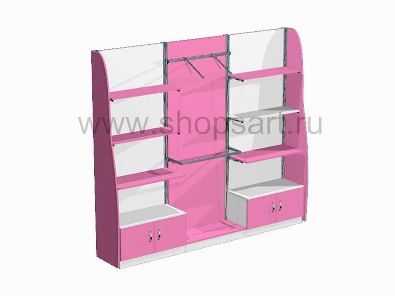 Стеллажи с распашными дверками Розовая фантазия