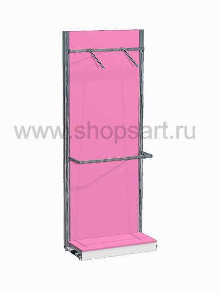 Торговое оборудование стеллаж с навеской Розовая фантазия