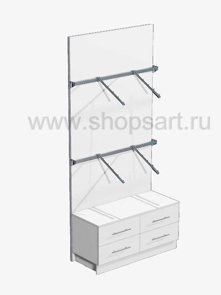 Стеллаж пристенный накопитель торговое оборудование ГОЛУБАЯ ЛАГУНА