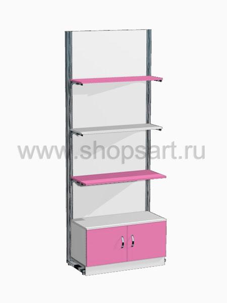Стеллаж с дверками 2 Розовая фантазия