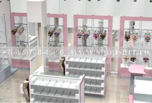 Торговое оборудование для магазинов нижнего белья коллекция ЛАСКАНА