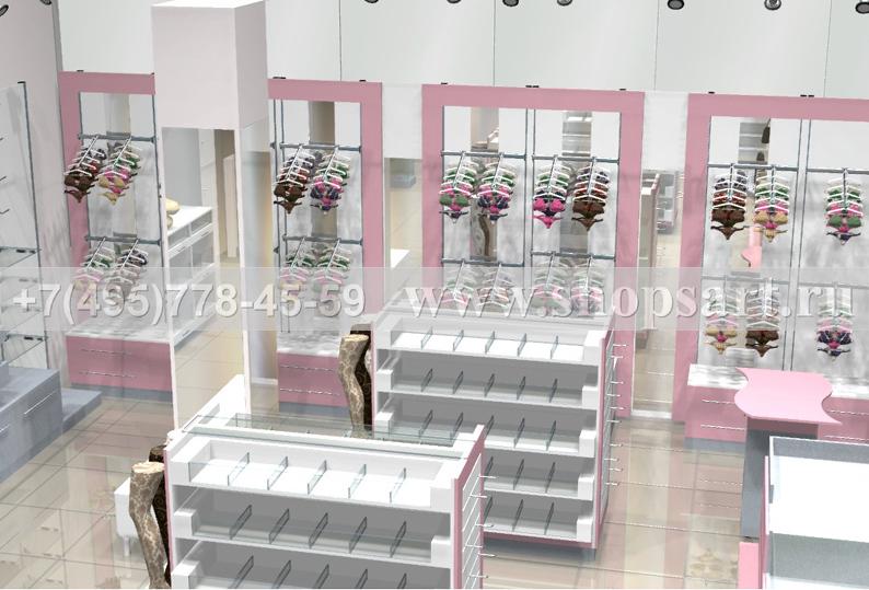 Торговая мебель для магазинов нижнего белья коллекции ЛАСКАНА
