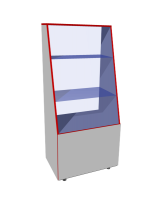 Витрина - прилавок Прилавок остекленный из ЛДСП и стекла, регулируемые опоры, дверцы, внутри полка.  Возможные размеры (мм): Длина/Глубина/Высота 700/500/1500 800/600/- 900/-/ 1000/-/