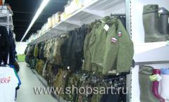 Торговое оборудование для магазина Военторг ОХОТА И РЫБАЛКА