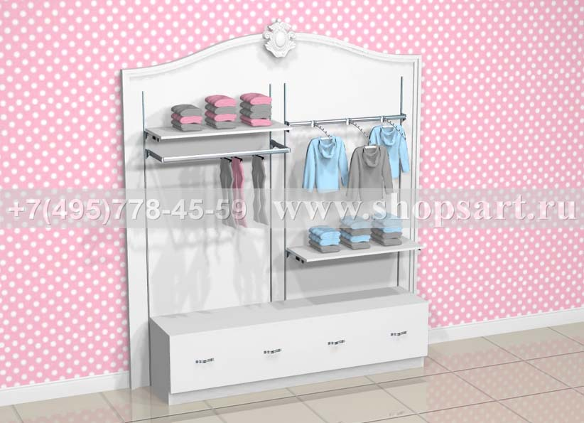 Торговое оборудование для детских магазинов стеллаж Монализа