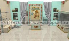 Визуализация детского магазина Королевская вышивка ВИНТАЖ
