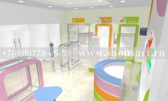 Визуализация детского магазина Артель АКВАРЕЛИ