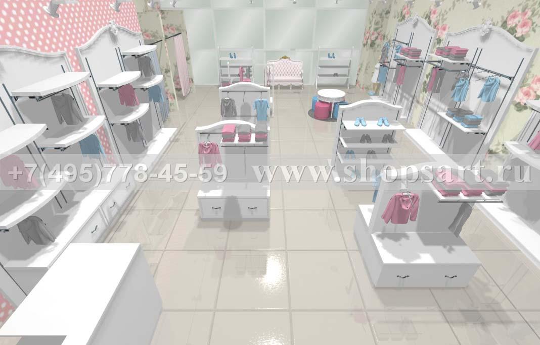 Визуализация 2 детского магазина коллекция Монализа