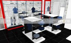 Визуализация магазина джинсовой одежды коллекция КРАСНАЯ ЛИНИЯ