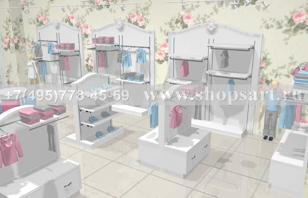 Визуализация 3 детского магазина коллекция Монализа
