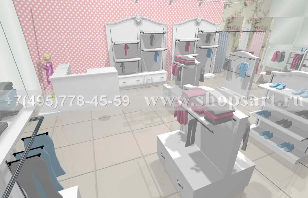 Визуализация 5 детского магазина коллекция Монализа