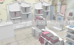 Визуализация магазина женской одежды МОНАЛИЗА