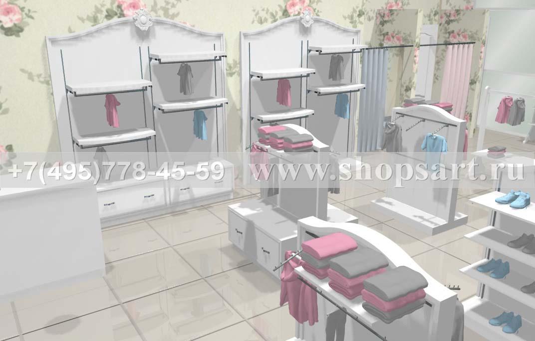 Визуализация 4 детского магазина коллекция Монализа