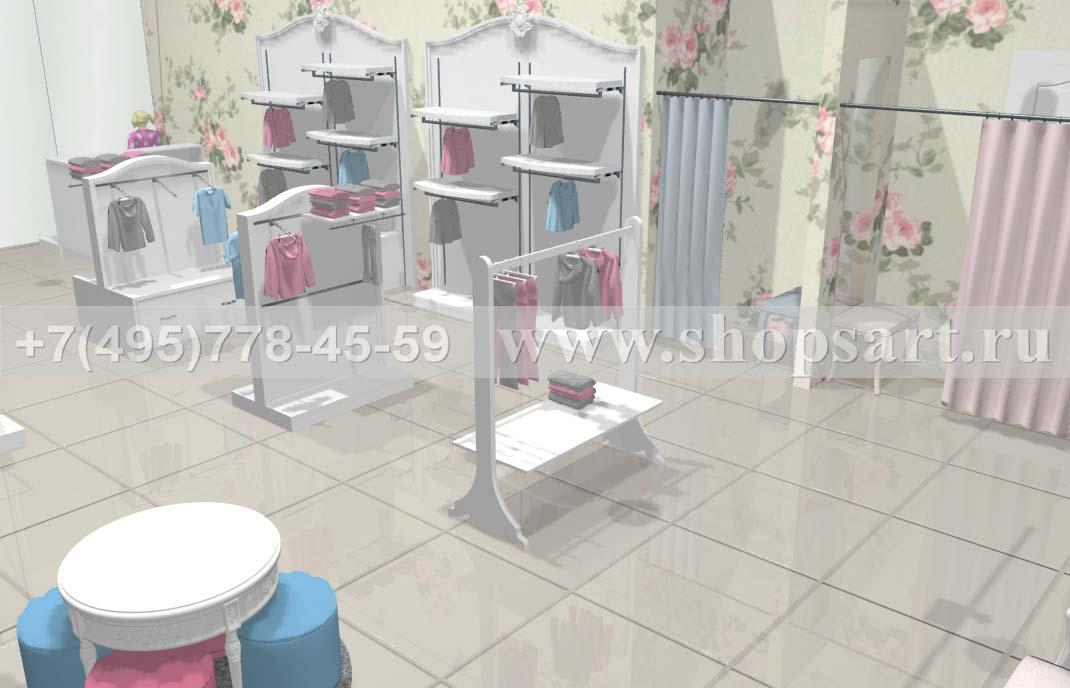 Визуализация 6 детского магазина коллекция Монализа