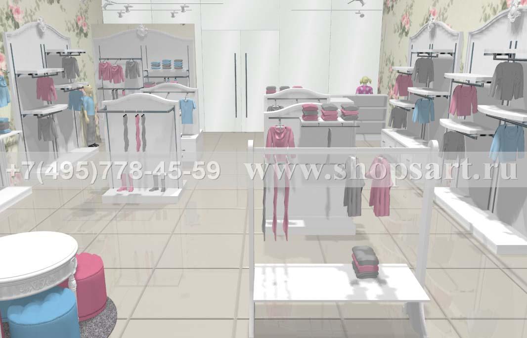 Визуализация 7 детского магазина коллекция Монализа