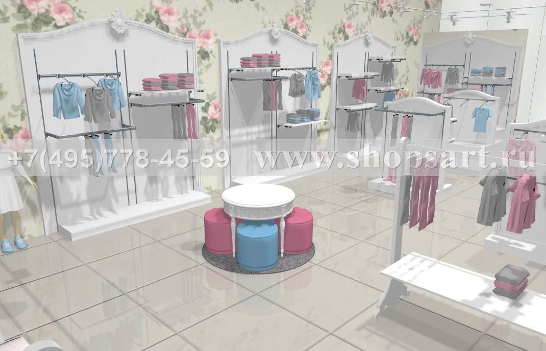 Визуализация 8 детского магазина коллекция Монализа