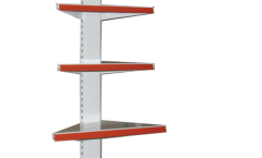 Стеллаж пристенный металлический внешний угловой