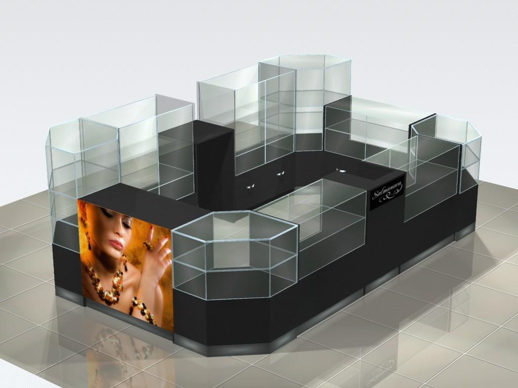 Дизайн торгового оборудования остров для украшений