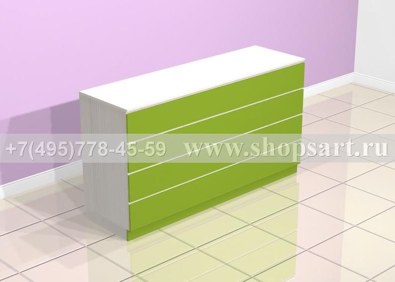 Стол кассовый 2000х1100х600мм. Кассовая стойка имеет влагостойкую столешницу, выполненную из кухонной плиты или искусственного камня. Цветовая гамма и материалы – любые.