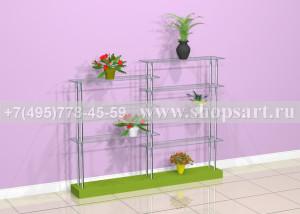 Этажерка для продажи цветов 1400х1800х300мм.