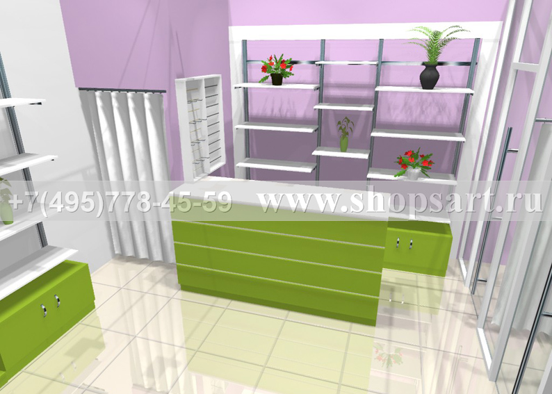 Визуализация магазина цветов 2 АРОМАТНЫЙ МИР