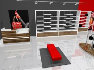 Торговая мебель для магазинов обуви коллекции ГЛАМУР