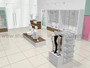Торговое оборудование для магазинов нижнего белья коллекция ИЗУМРУД