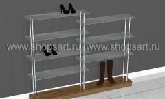 Стеклянная этажерка для обуви