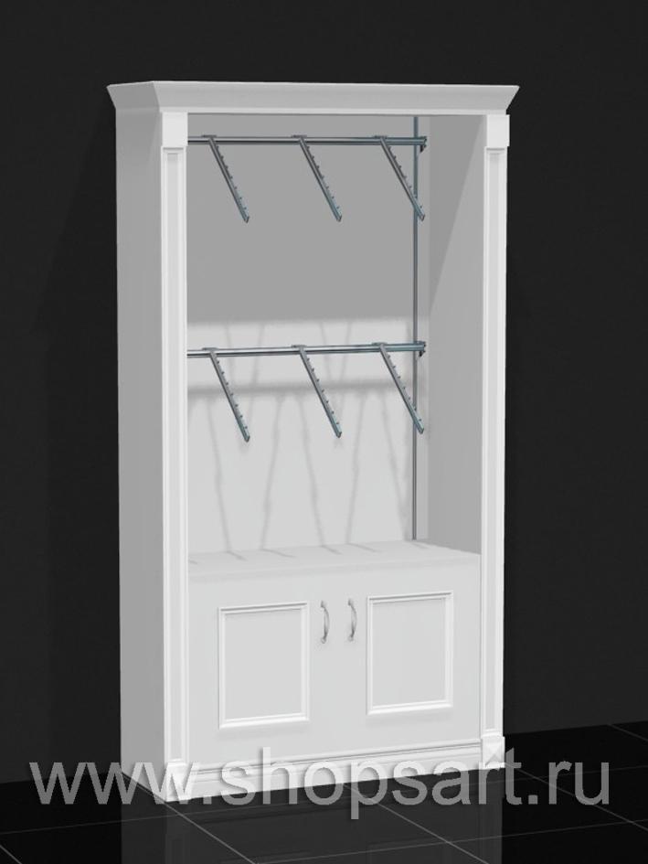Шкаф торговый пристенный накопитель Белая классика