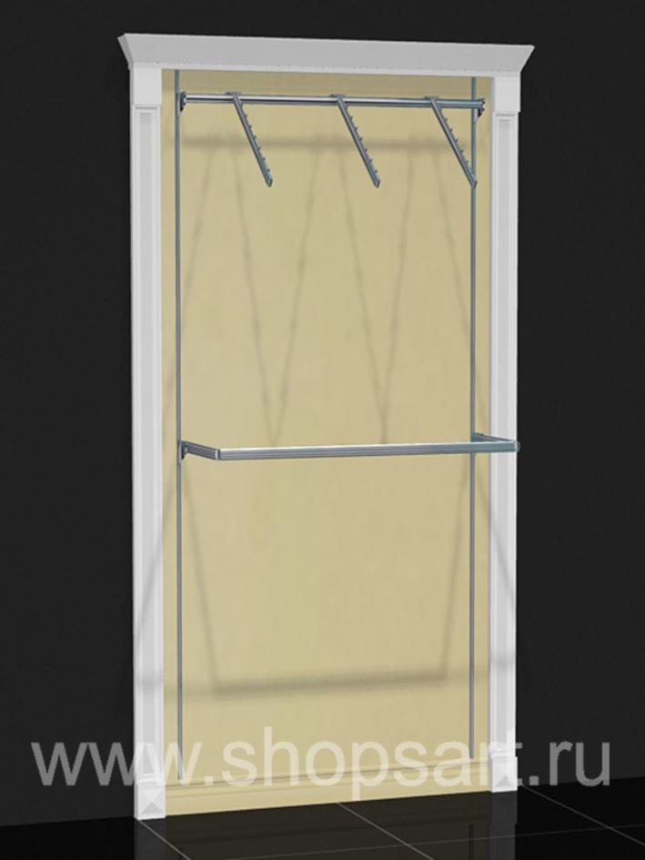 Торговое оборудование стеллаж пристенный Белая классика