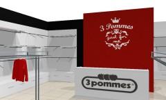 Визуализация магазина детской одежды 3 pommes ЧЁРНО БЕЛАЯ КЛАССИКА