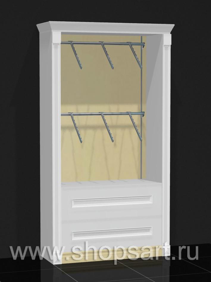 Торговое оборудование шкаф пристенный Белая классика