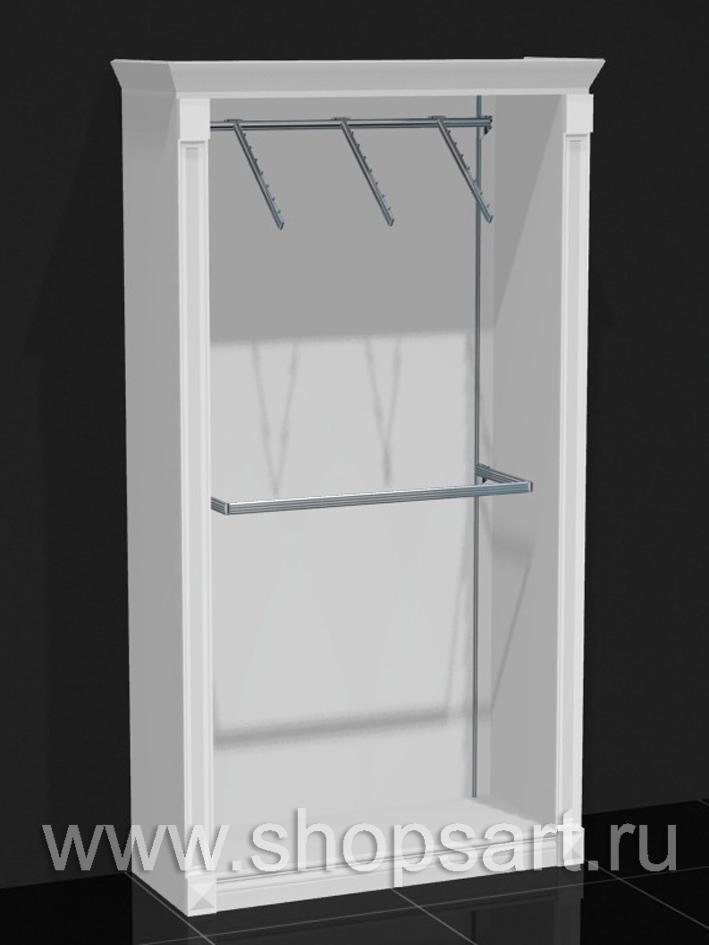 Шкаф пристенный фронтальный кронштейн Белая классика