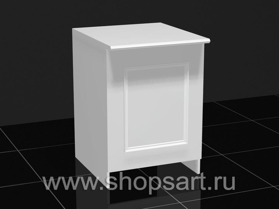 Калитка из ЛДСП белого цвета, распашная и откидвая.
