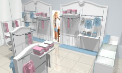 Визуализация магазина женской одежды 2 МОНАЛИЗА