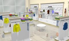 Визуализация магазина одежды ЭЛИТ ГОЛД