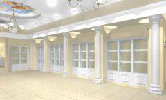 Дизайн интерьера ювелирного магазина коллекция БЕЛАЯ КЛАССИКА Дизайн 1