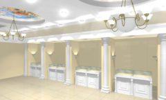 Дизайн интерьера ювелирного магазина коллекция БЕЛАЯ КЛАССИКА Дизайн 2