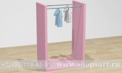 Торговая мебель стойка островная для одежды Карамель