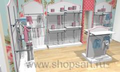 Торговое оборудование для магазинов женской одежды коллекция ПРЕМИУМ