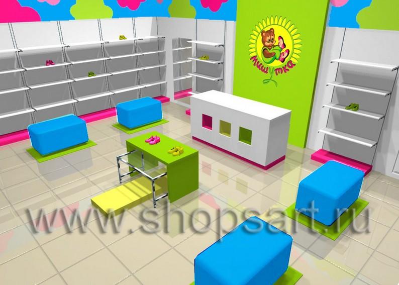 Дизайн-проекты детских магазинов