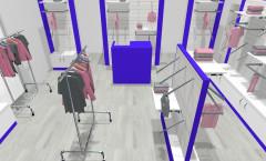 Визуализация магазина одежды ГОЛУБАЯ ЛАГУНА