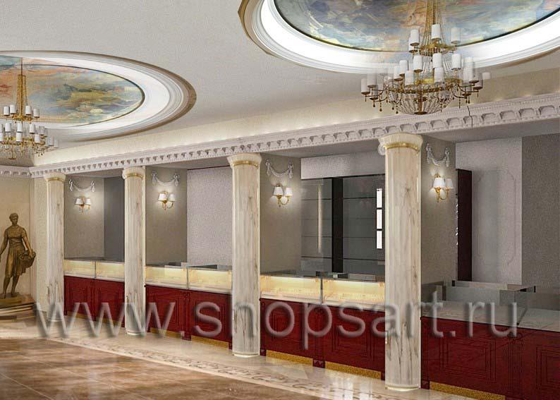 Дизайн проект ювелирного магазина Октябрь Москва Фрунзенская набережная