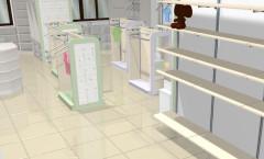 Визуализация 4 детского магазина на основе коллекции РОЗОВАЯ ФАНТАЗИЯ