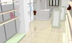 Визуализация 3 детского магазина на основе коллекции РОЗОВАЯ ФАНТАЗИЯ