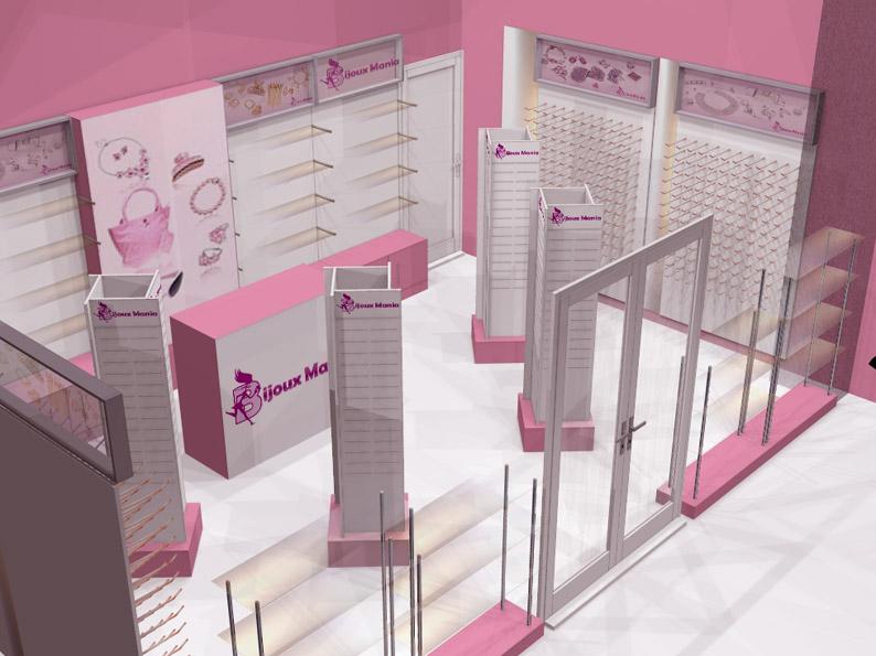Визуализации магазинов бижутерии