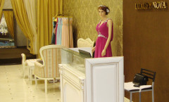 Эконом дизайн-проект – фото открытого салона свадебной моды Luxury Nova