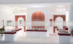 Дизайн интерьера ювелирного магазина Кремлев Москва КРЕМЛЕВСКОЕ ЗОЛОТО Дизайн 1