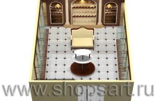Визуализация магазина обуви на основе коллекции Кофе с молоком
