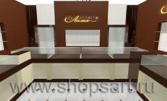 Визуализация 2 ювелирного магазина Золотая Лилия Москва